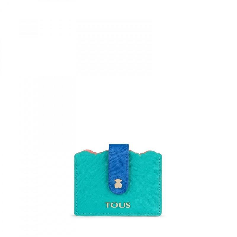 カードケース Carlata ライトグリーン/ ピンク / 合成皮革(995960402)
