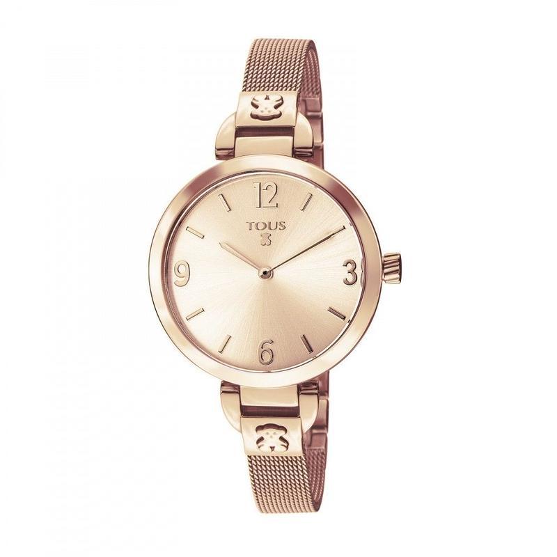 ピンクのステンレス IP 腕時計 Boheme(300350625)