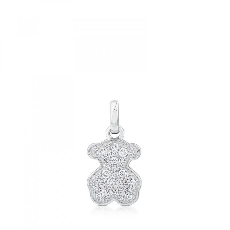 ホワイト・ゴールド・ダイアモンド・アイコン・ジェムストーン付きペンダント(612534000)