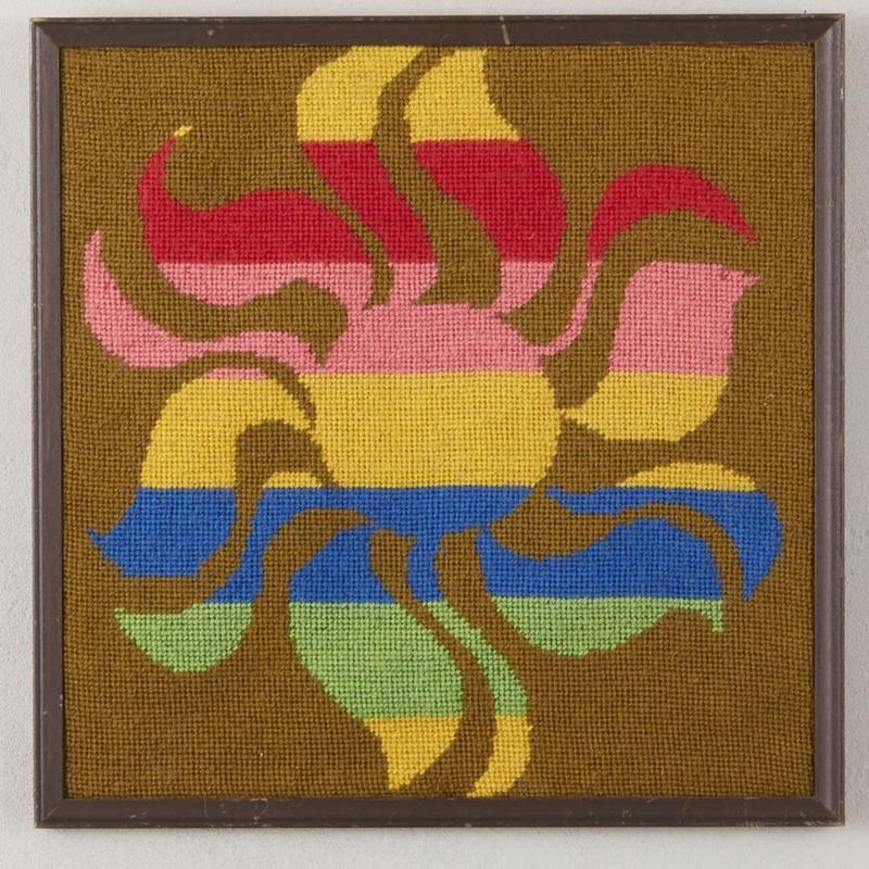 Old needlepoint wall art 143