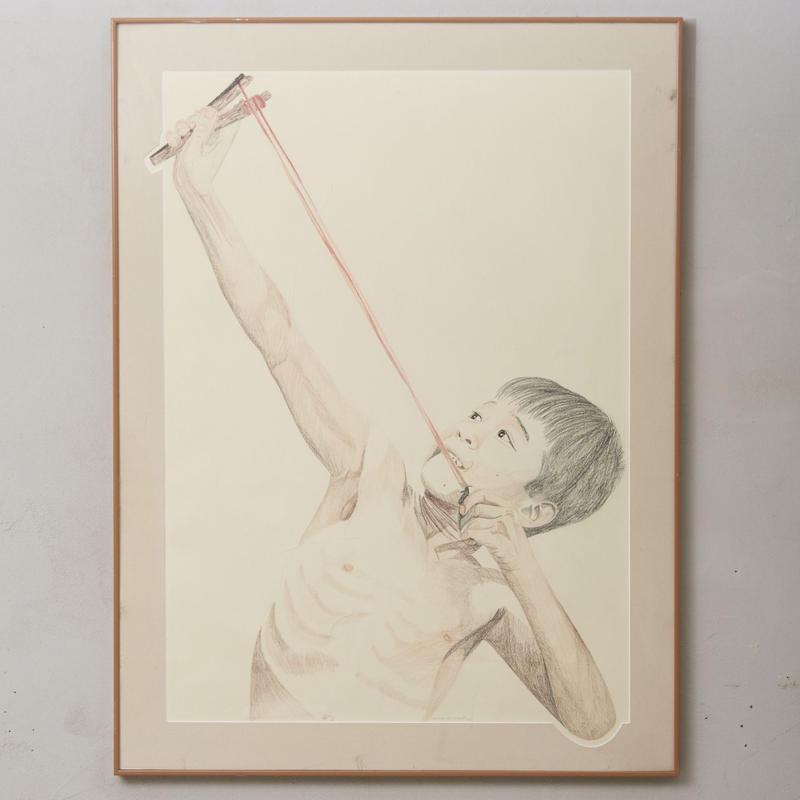 Large color pencil painting 001