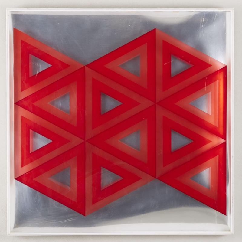 red geometric art 126