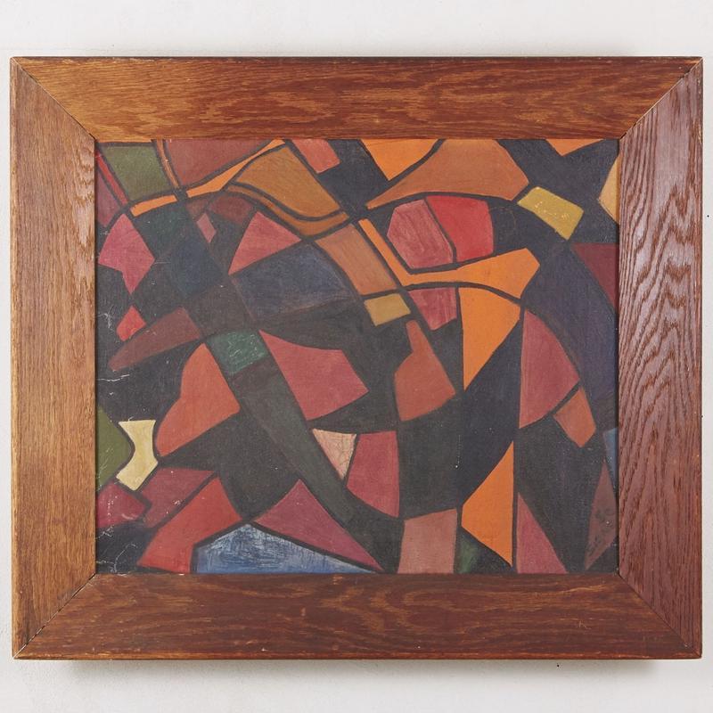 50's Vintage art paintig 114