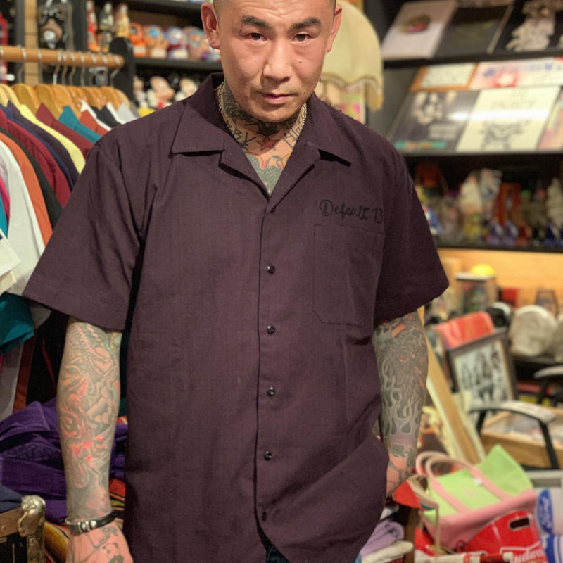 "[ESG-C03S-MO]  S/S GUAYABERA "" OPEN COLOR  "" MORADO(PURPLE)"
