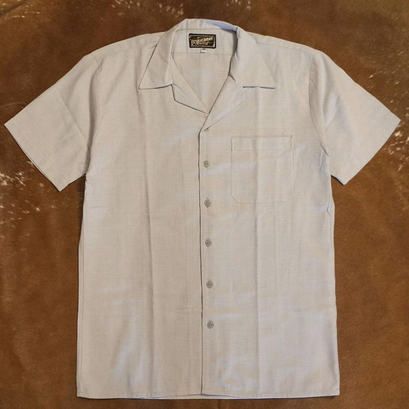 "[ESG-03S-PE]  S/S GUAYABERA "" OPEN COLOR  "" PERLA(GRAY)"