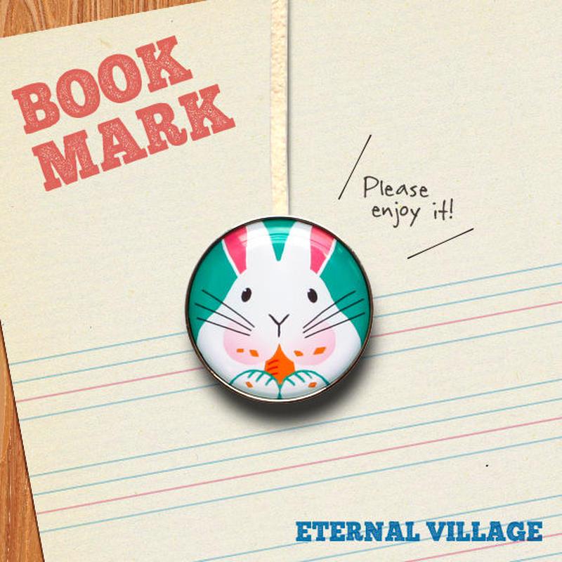 「もぐもぐ食べるウサギのクリップ型ブックマーク」No.194