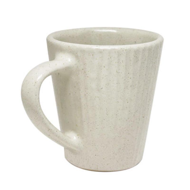 マグカップ ストライプ(白)  Mug cup stripe (white)