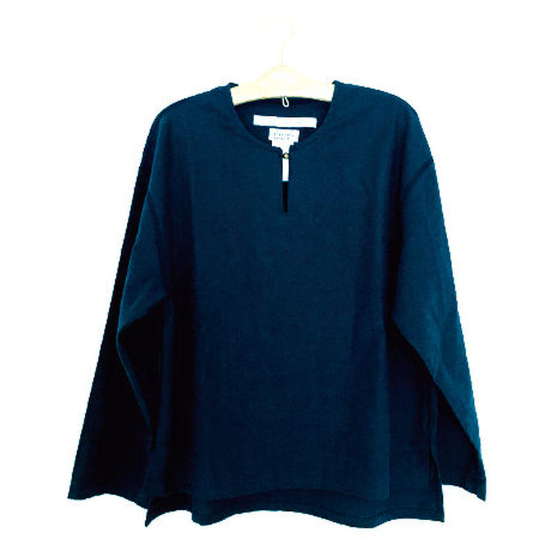 ミャオボタンシャツ(ネイビー)