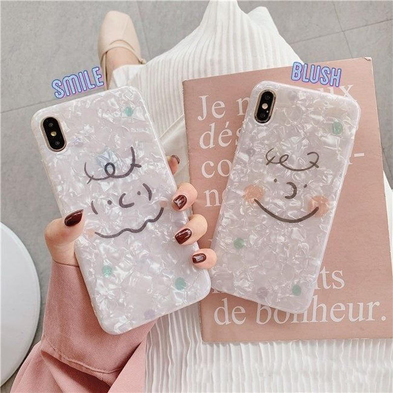 Cute face shell  iphone case
