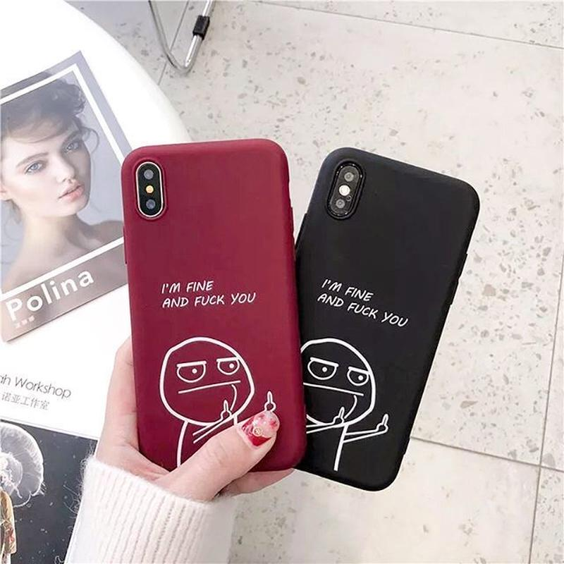 I'm fine and fuck you iphone case