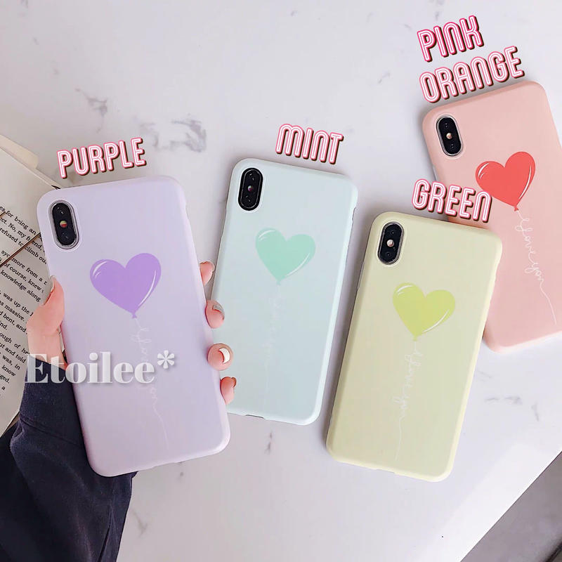 Heart balloon with grip iphone case