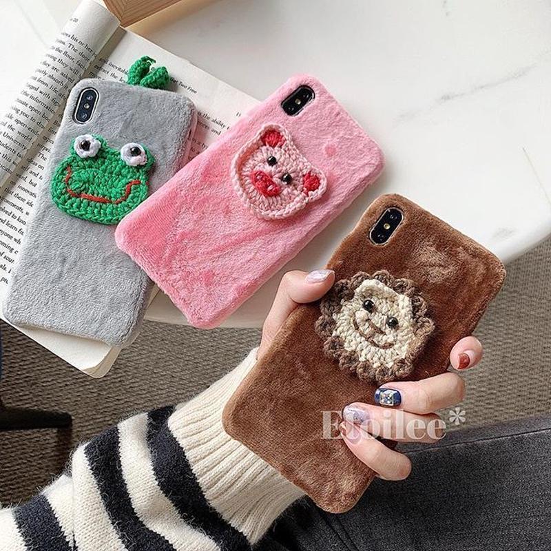 Animal knit iphone case