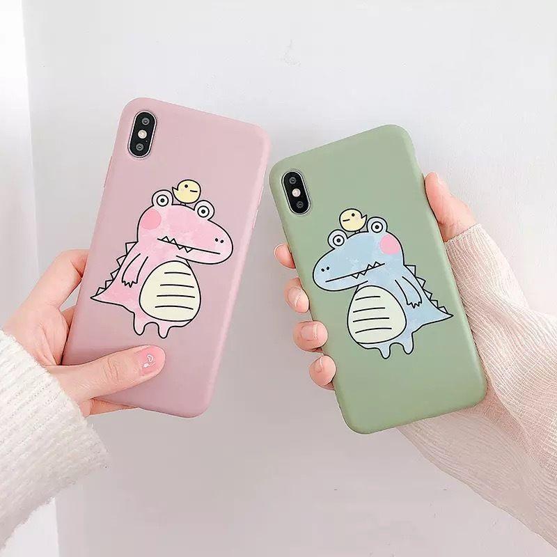 Big crocodile green pink iphone case