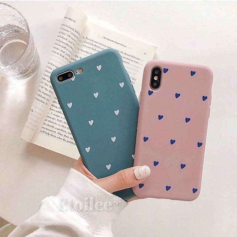 Heart pink blue iphone case