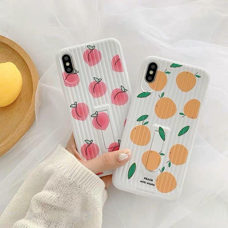 Peach orange luggage iphone case