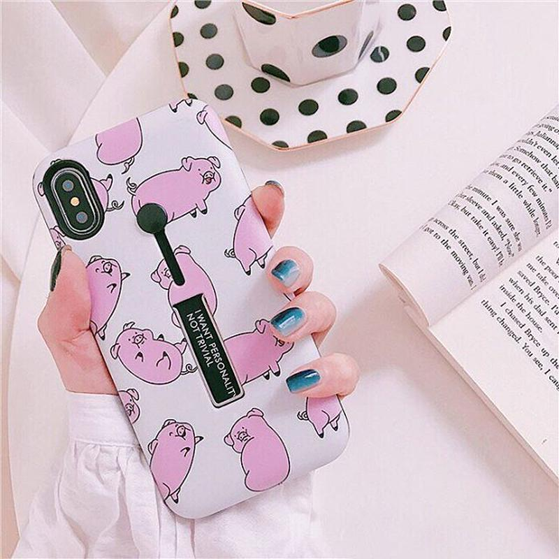 Oink black band iphone case
