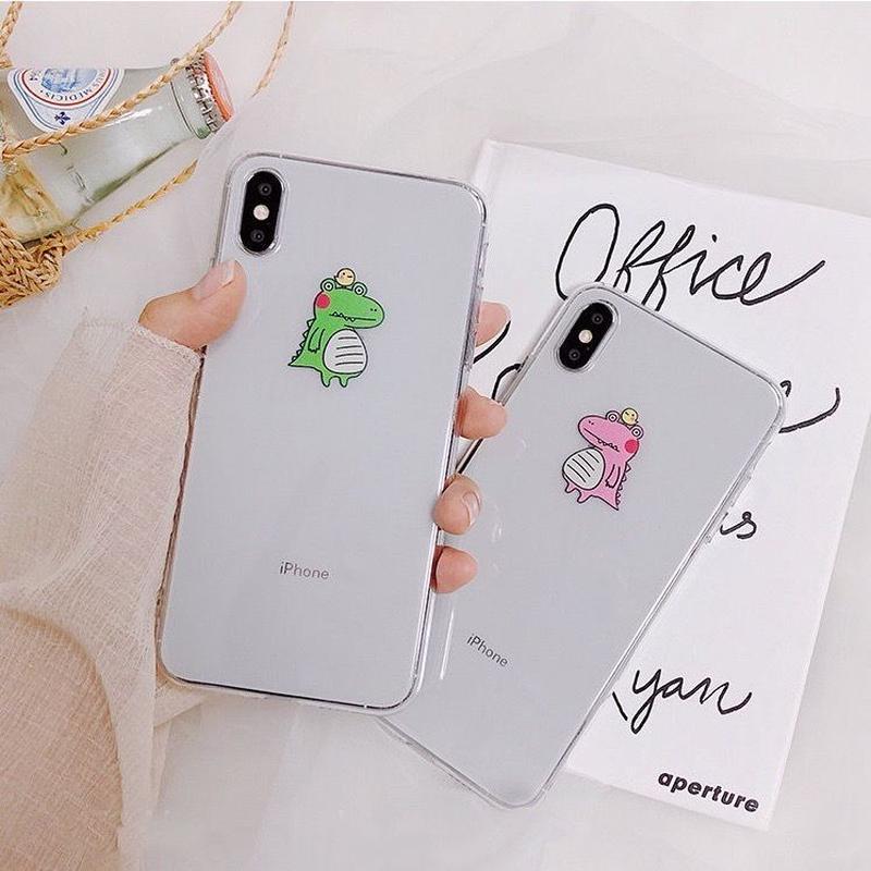 Crocodile green pink iphone case