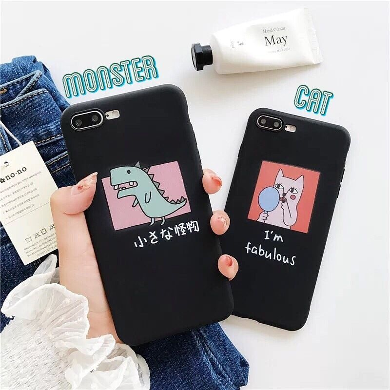 Doodle black iphone case