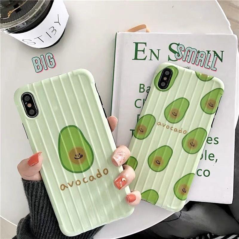 Avocado suitcase pattern iphone case