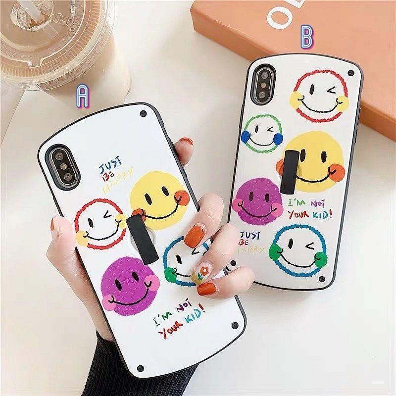 Smile black band  iphone case