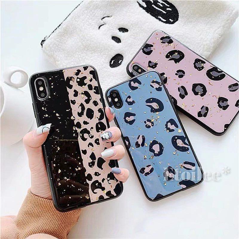 Leopard glitter iphone case