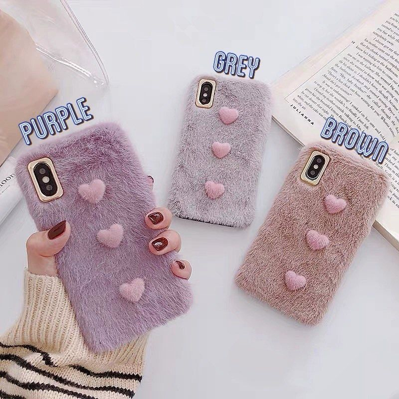 Pastel fur iphone case