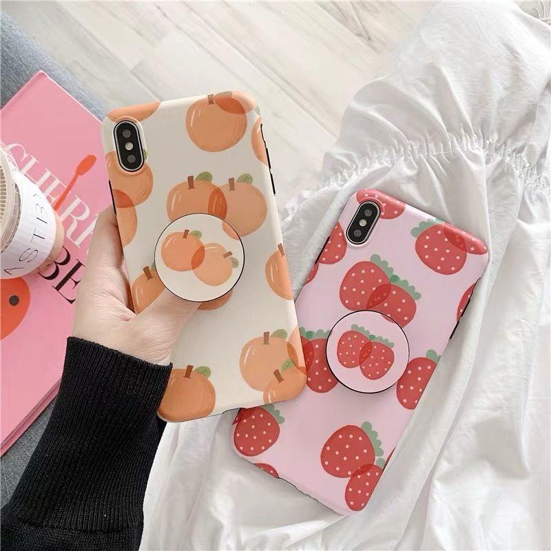Strawberry orange with grip iphone case