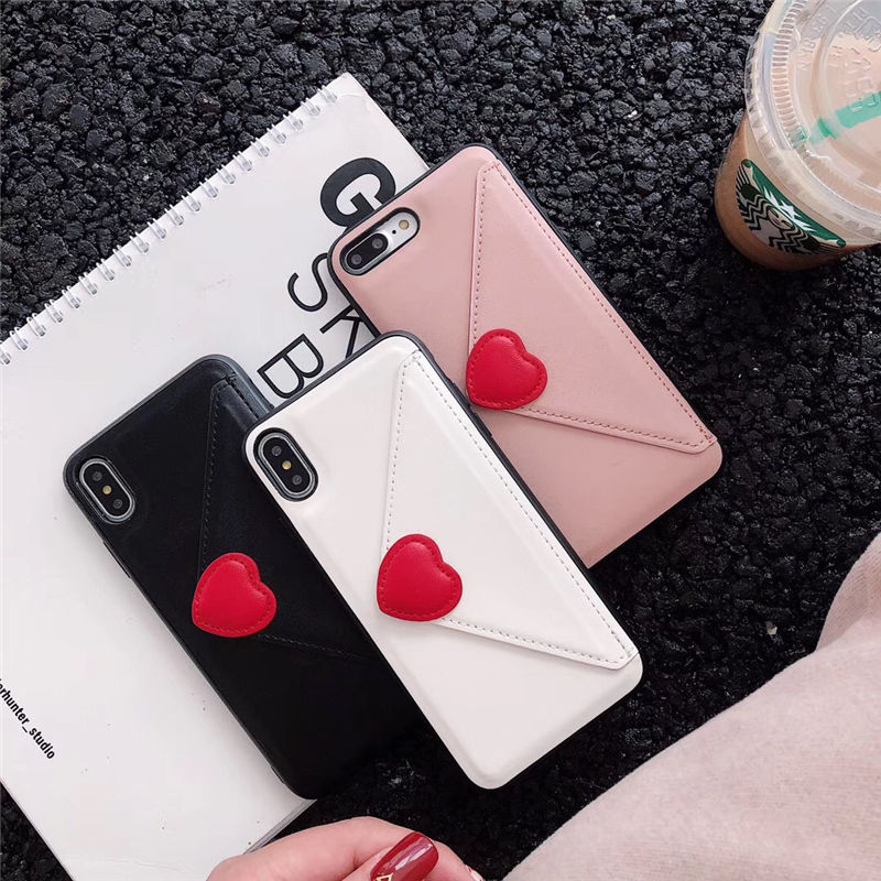 ⚠発送遅延⚠Heart wallet iphone case
