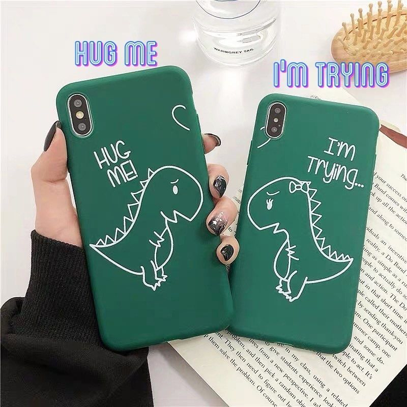 Hug dinosaur iphone case
