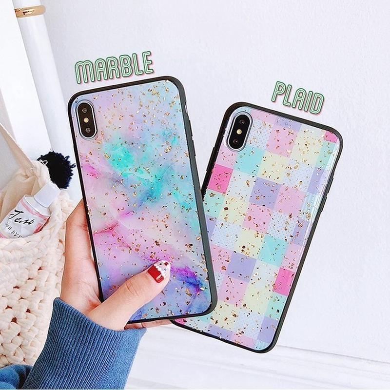 ⚠️発送遅延⚠️Pastel glitter iphone case