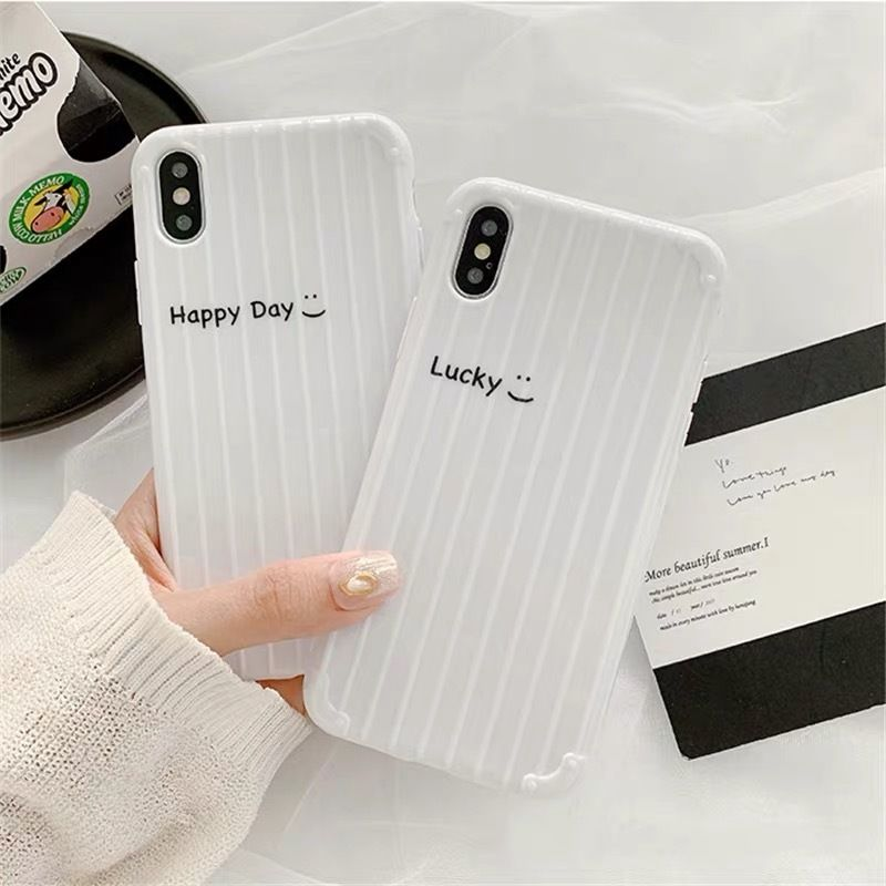 Lucky happy day white  iphone case
