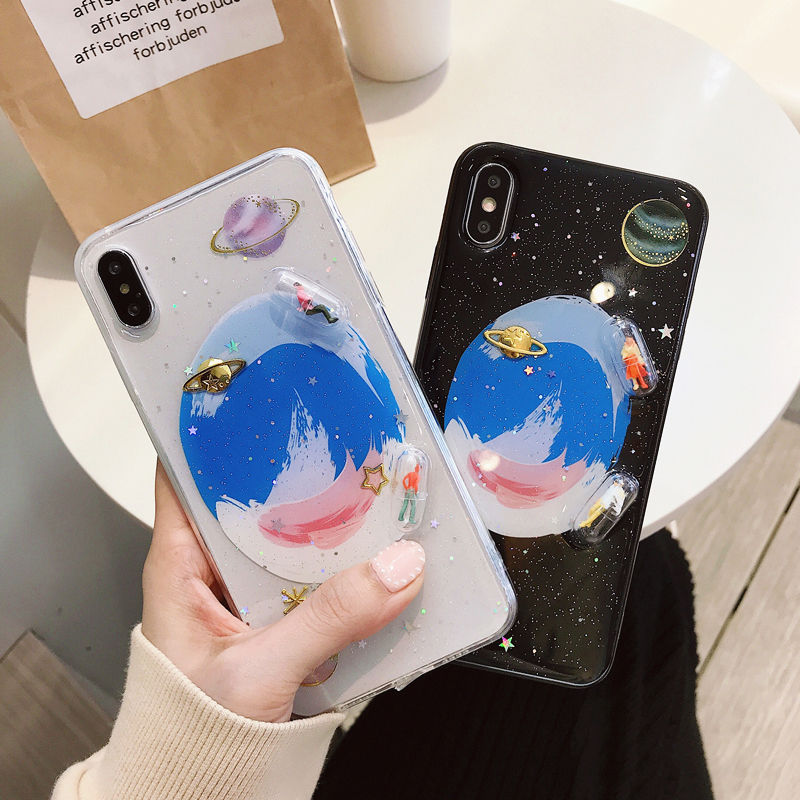 Planet capsule iphone case