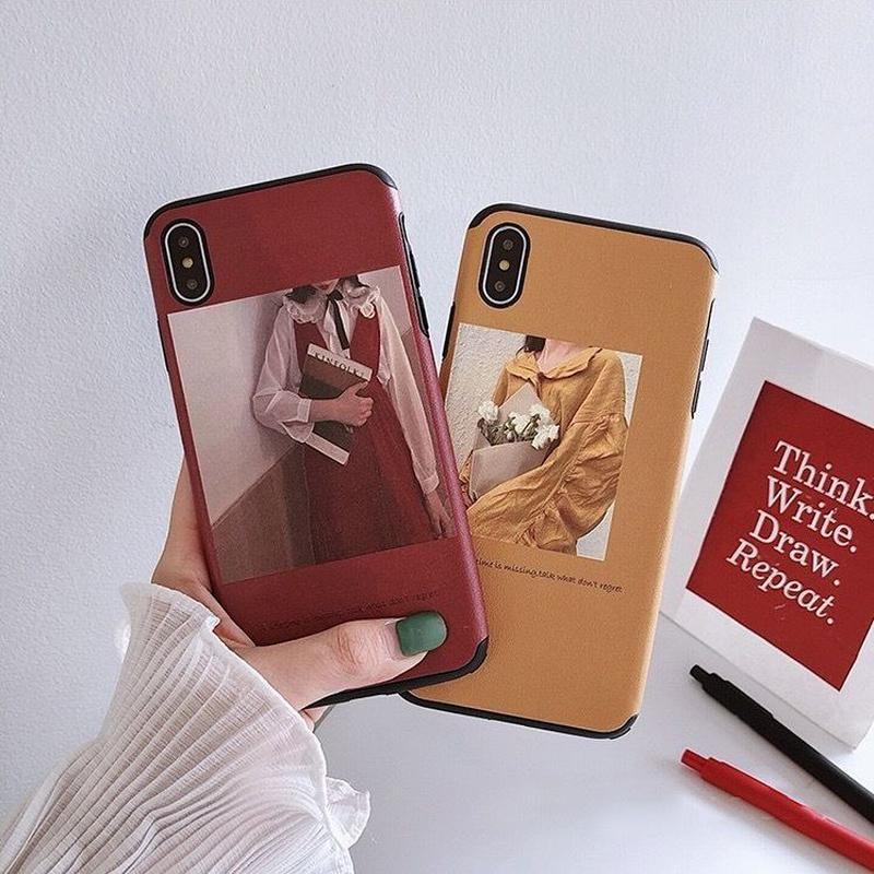 Girl red yellow iphone  case