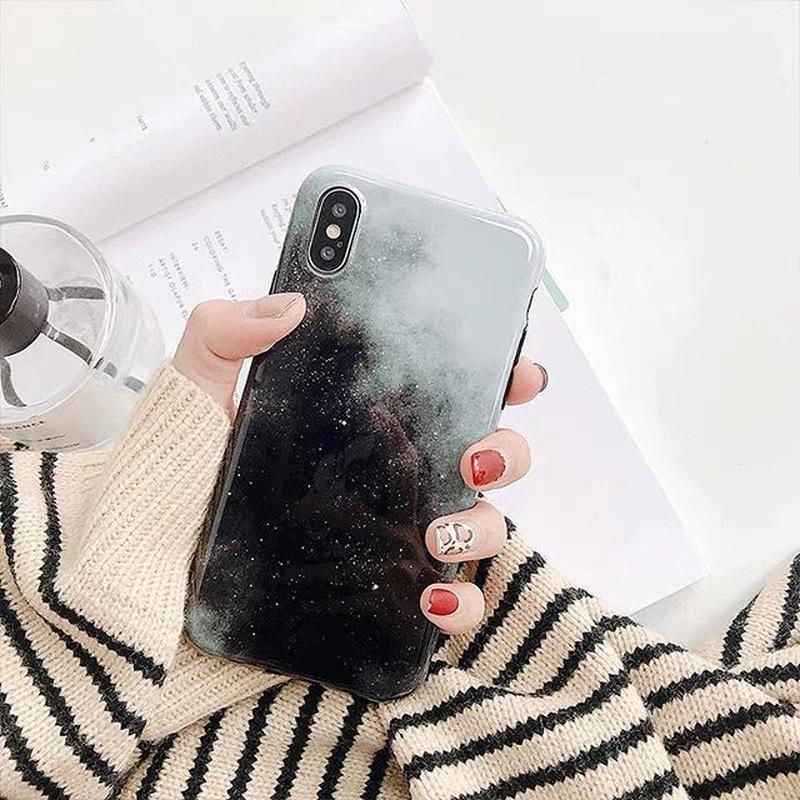 Black galaxy iphone case