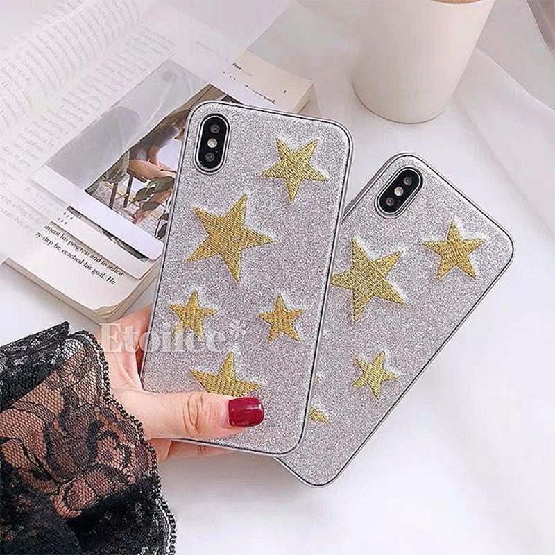 Gold random star iphone case