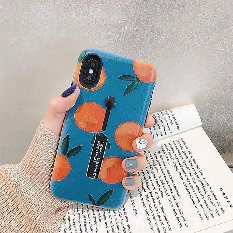 Orange black band iphone case
