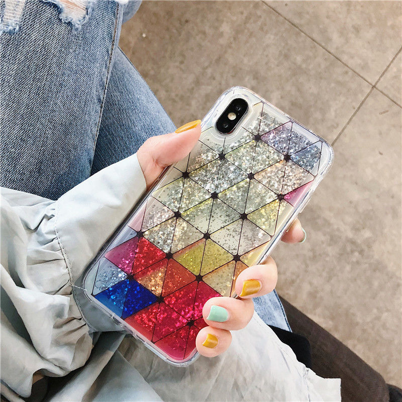 Rainbow quicksand iphone case