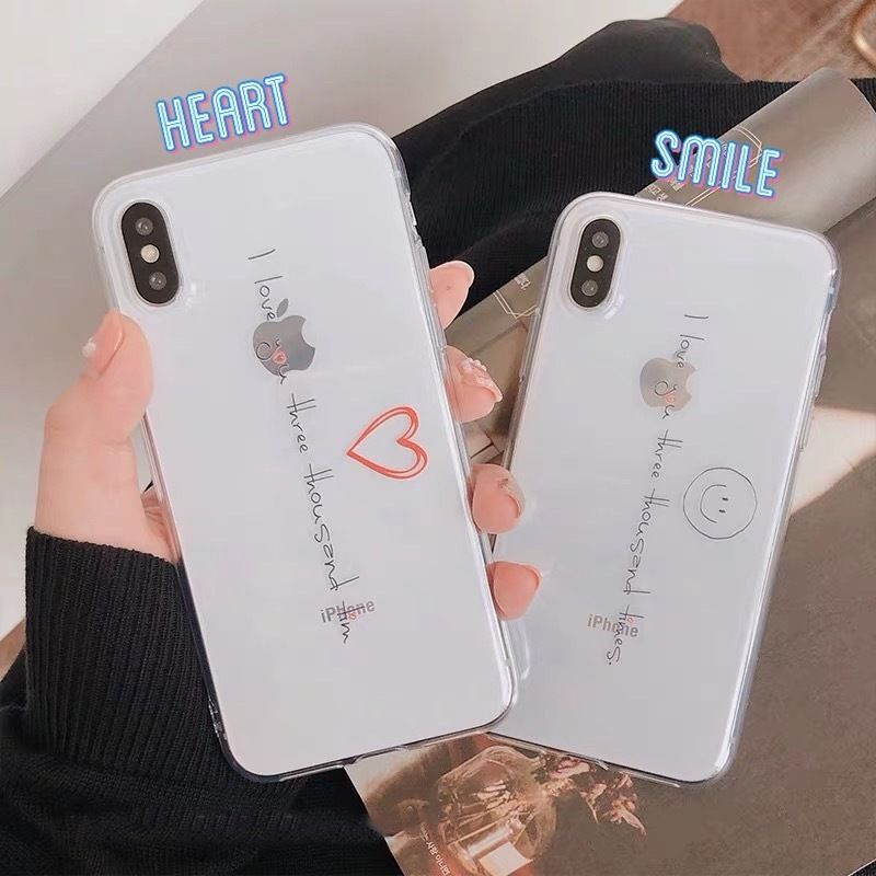 Smile heart clear  iphone case