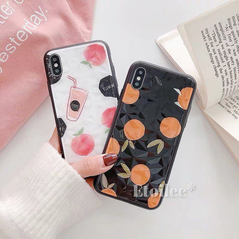 Fruits white black iphone case