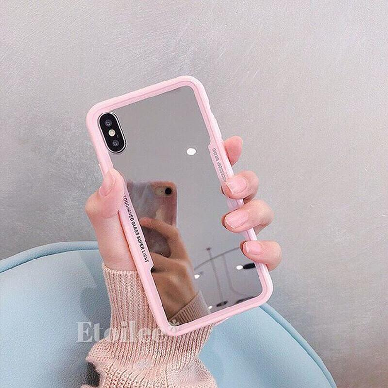 Pink side mirror iphone case