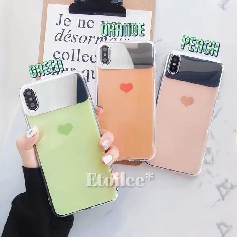 Heart mirror iphone case