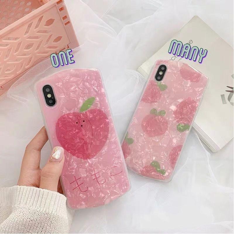 Peach round shell  iphone case