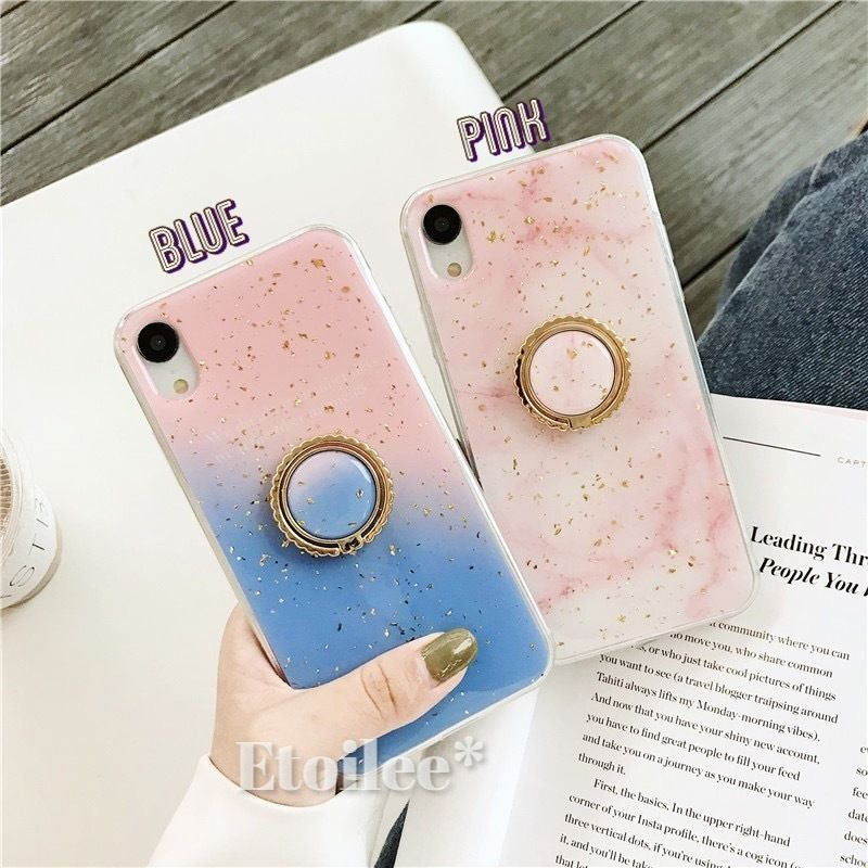 Pink glitter with grip iphone case
