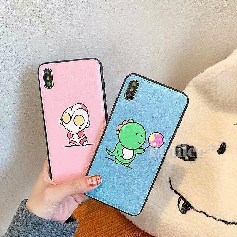 Pink blue black side iphone case