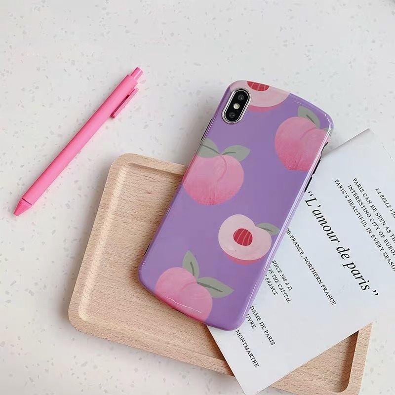 Purple peach iphone case