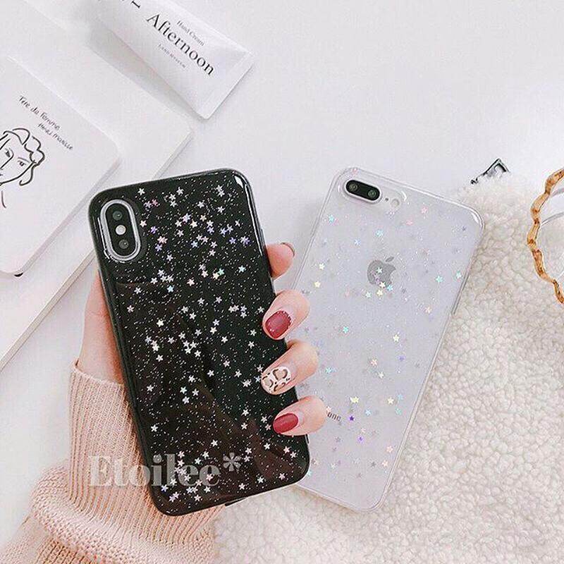 Star random glitter iphone case