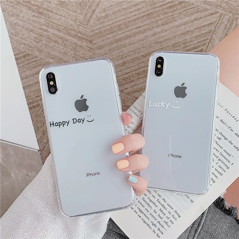 Lucky happy day clear iphone case
