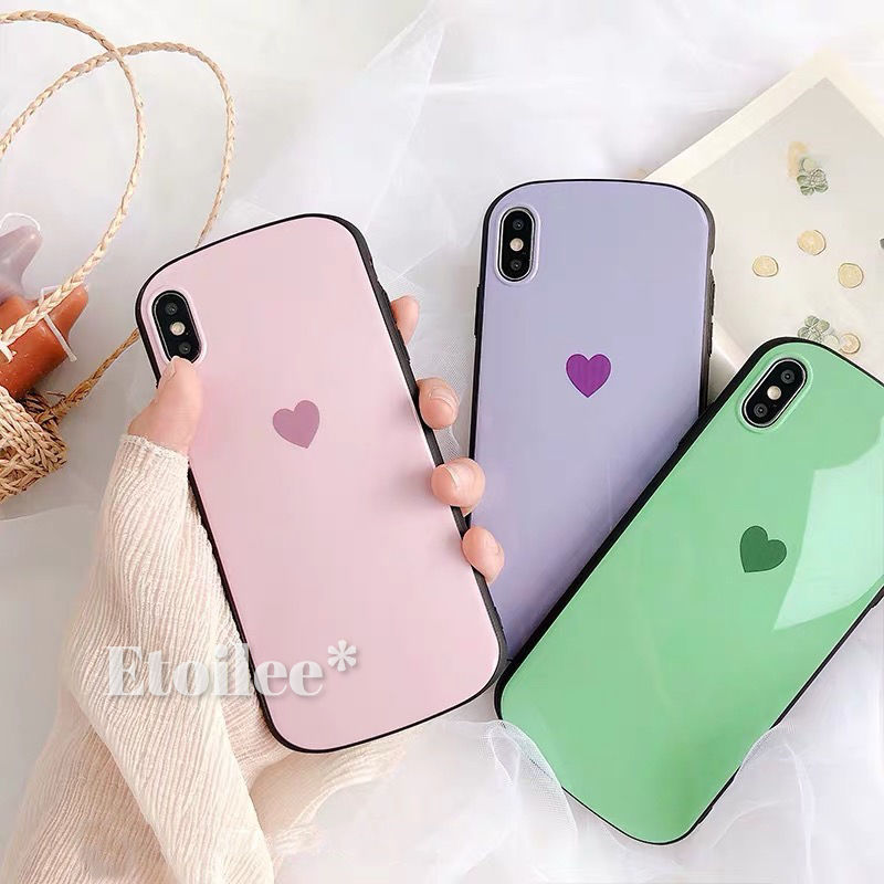 Heart round iphone case