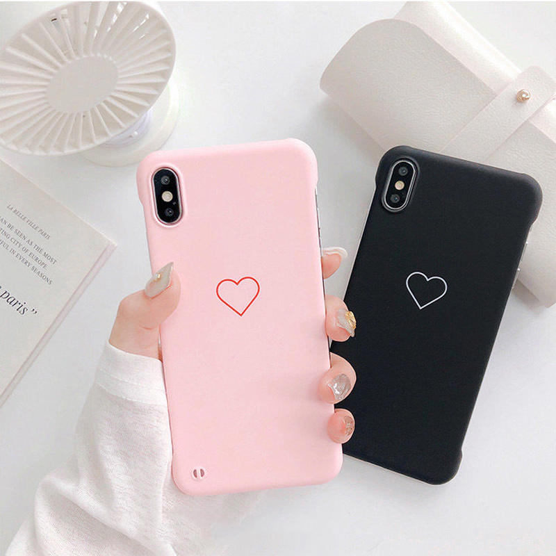 One heart black pink  iphone case