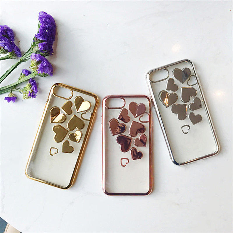 Metal heart iphone case